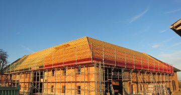 Dachstuhl - Wirtschaftstrakt-Dachstuhlerneuerung-Hentschläger Holzbau -Zimmerei - Dachstühle-Vierkanthof