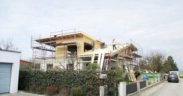 Holzriegelbau inkl. Sichtdachstuhl