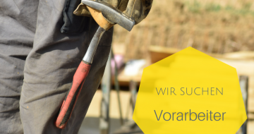 Wir suchen Vorarbeiter - Hentschläger Bau GmbH