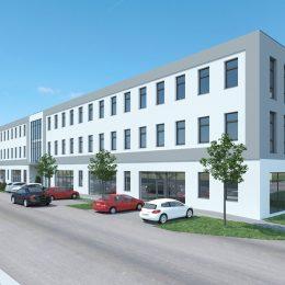 2019 wird in der Gemeinde Ottensheim ein neues Bürogebäude samt großzügigen Garagenpark errichtet - der
