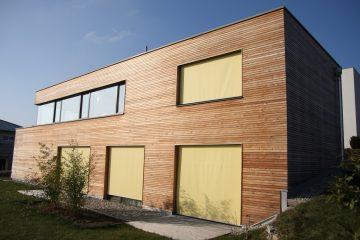 Fassade - Holzfassade - Frontfassade - Holzdesign - Zimmerei - Zimmerer - Zimmerei in Mauthausen - Gartenhaus - Holzbau - Wohnhaus - Gemeindezentrum
