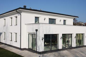 Einfamilienhaus - Bau - Neubau - Bau Wohnhaus - Bau Haus - Bau Privathaus - Privatbau - Baubetreuung - Dachterrasse - moderne Bauweise - Wohnhaus - Massivhaus - Domizil - Objekt - Gebäude - Wohngebäude - Eigenheim - Haus - Hausbau - Traumhaus