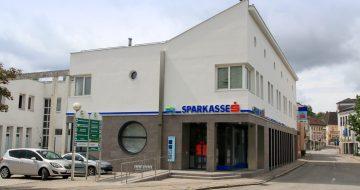 Sparkasse St. Georgen/Gusen - Kommunalbau - Bau Sparkasse - Hentschläger Bau GmbH - Baufirma in Langenstein