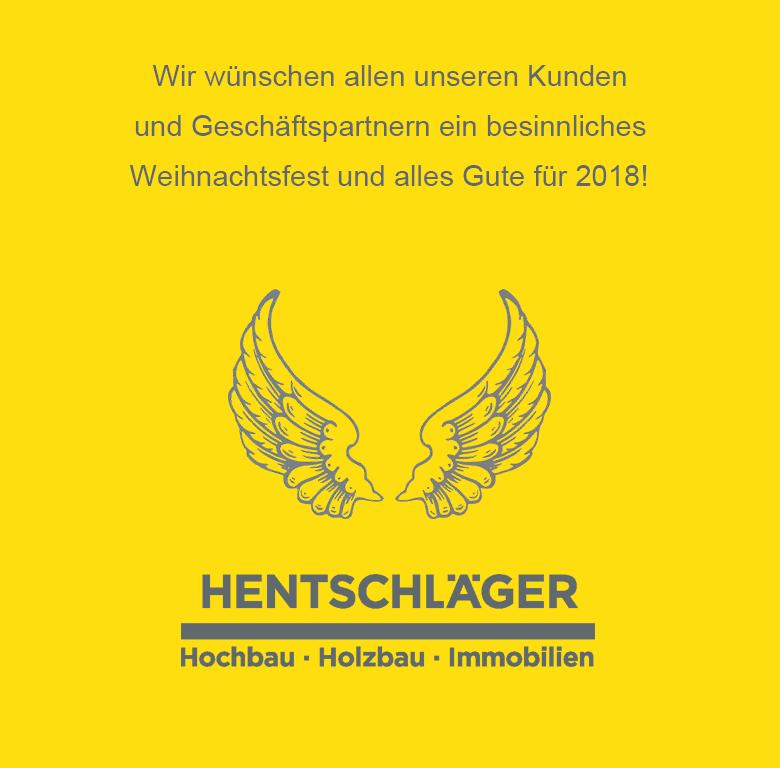 Frohe Weihnachten - Hentschläger Bau GmbH wünscht ihnen alles Gute!