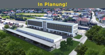 Ende des Jahres 2018 wird in der Gemeinde Ottensheim ein neues Bürogebäude samt großzügigen Garagenpark errichtet - der