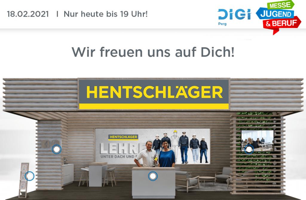 Digitale Lehrlingsmesse - Lehrlingsstand der Firma Hentschläger Bau GmbH in Perg